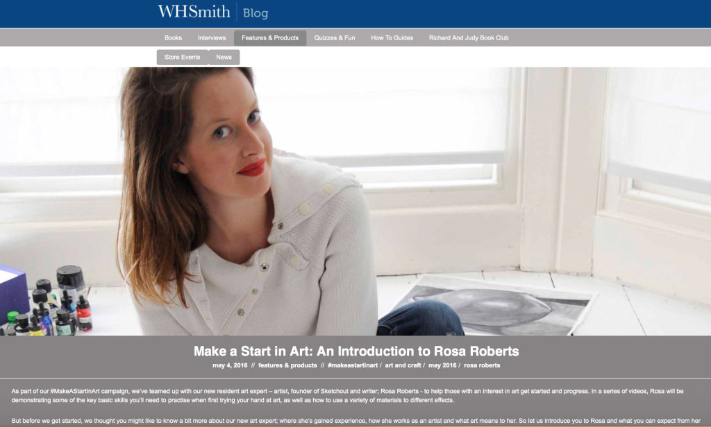 WH Smith Videos by Rosa Roberts of Sketchout