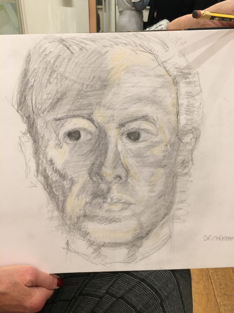 Drawing portraits - student work from our Part 2 course.