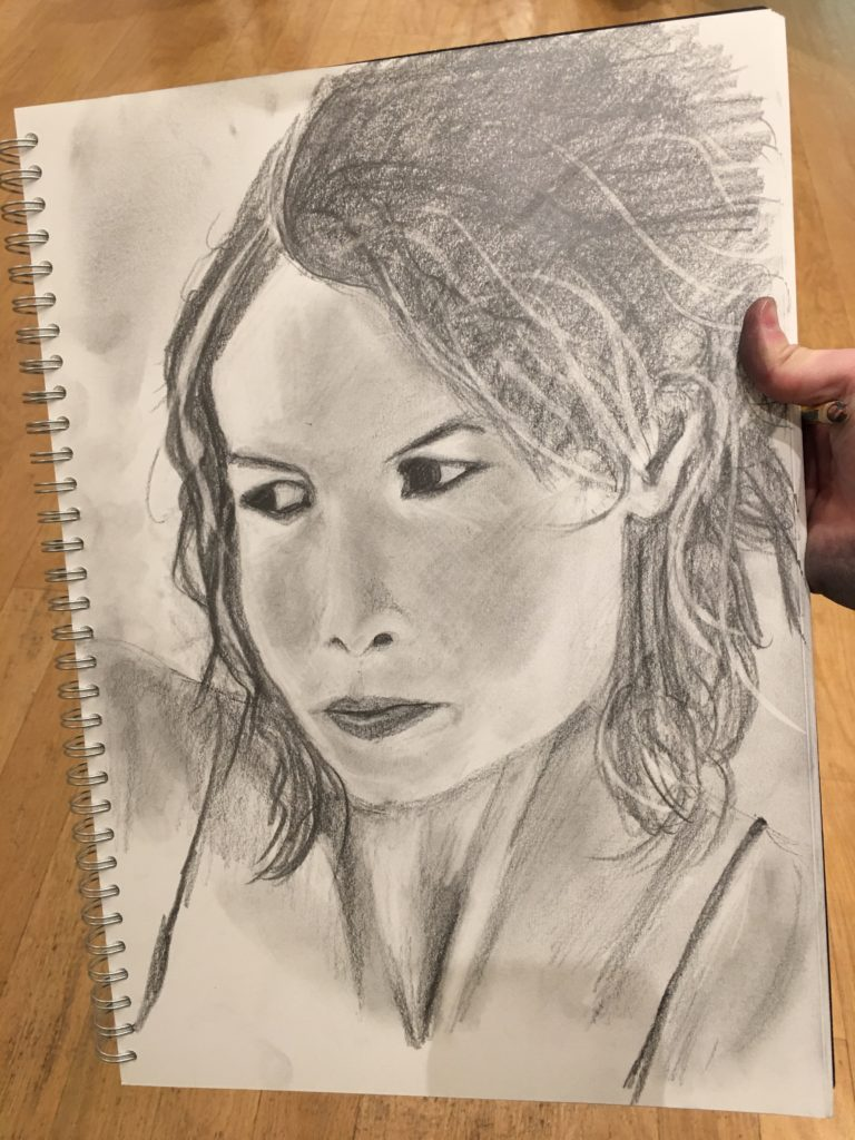 Learn how to draw a realistic face like this on our sketching course.